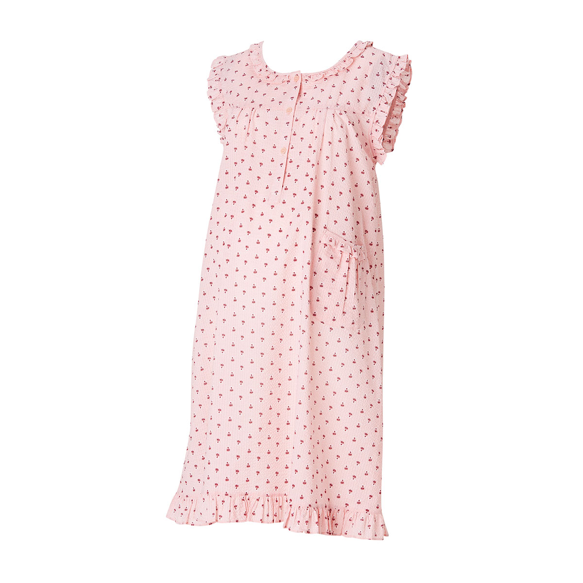 임부용 면 리플 원피스 잠옷(ROP702GN)