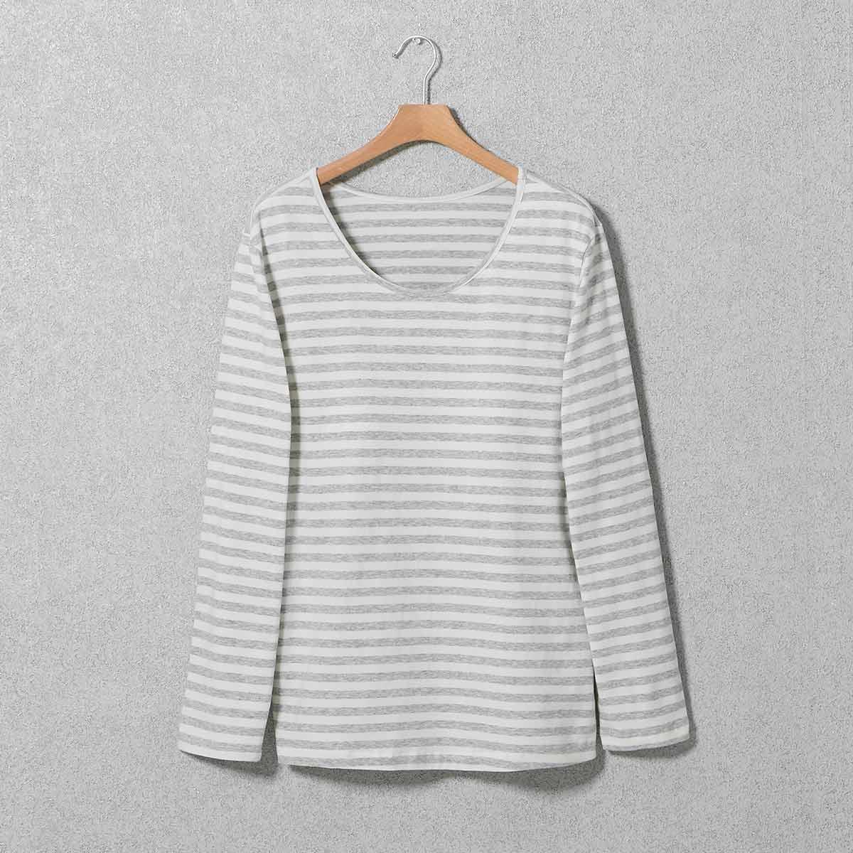 선염 스트라이프 몰드 티셔츠(SEVC605F)