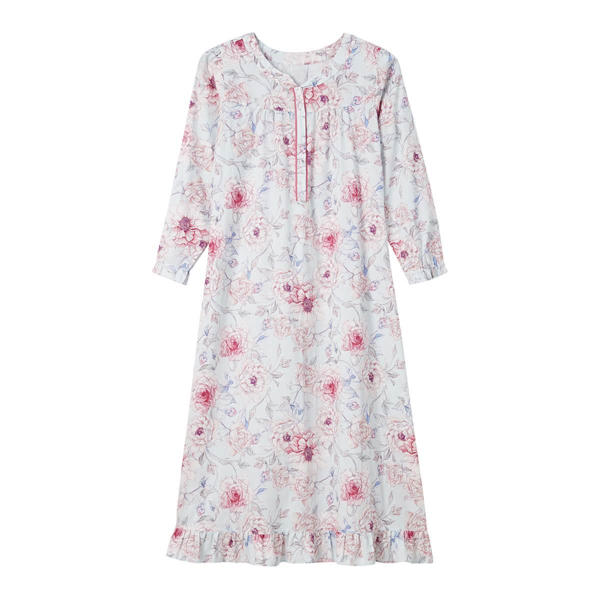 화사한 꽃무늬 원피스 잠옷(WGN2395W)