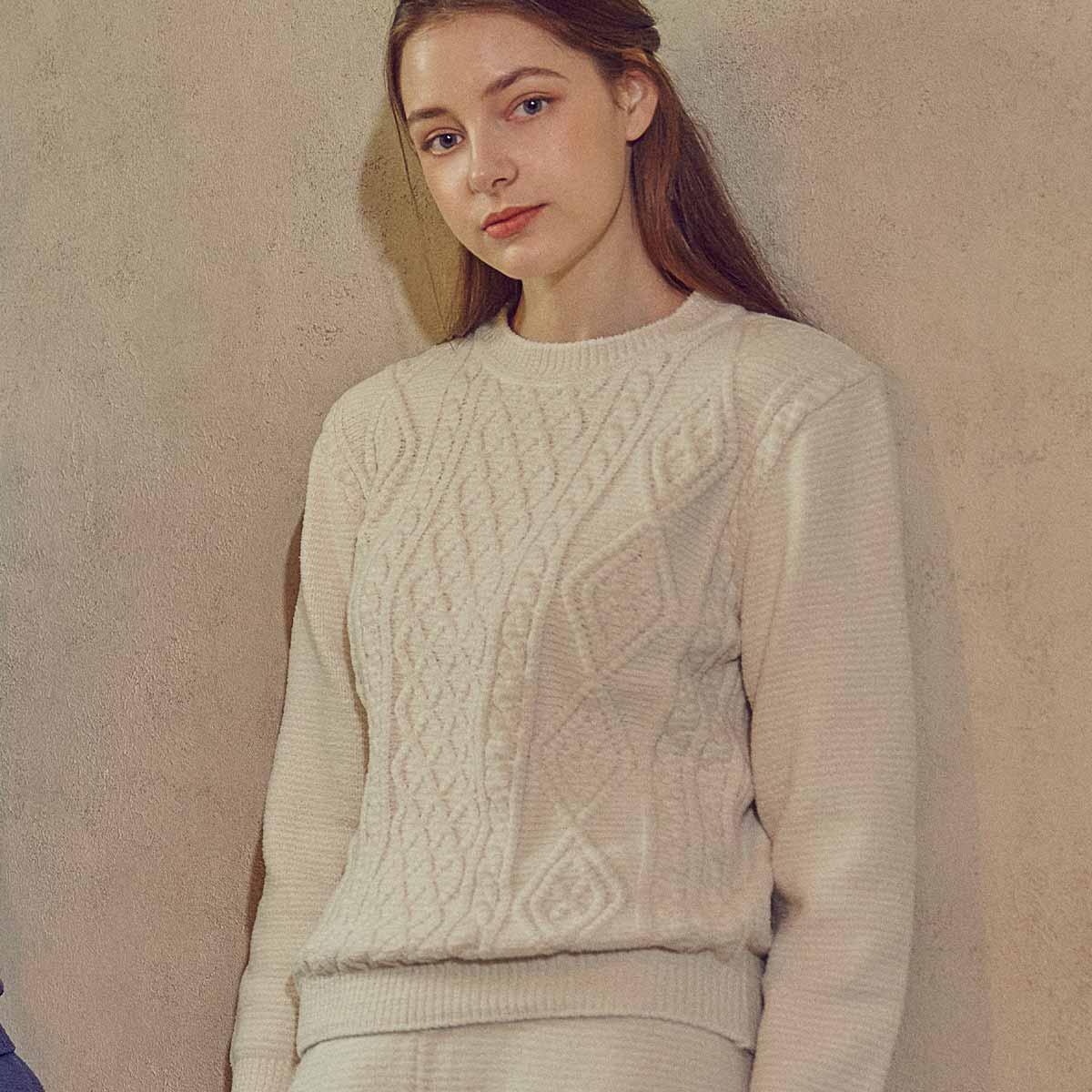 마쉬멜로 스웨터 여성 상의(WPA566WS)